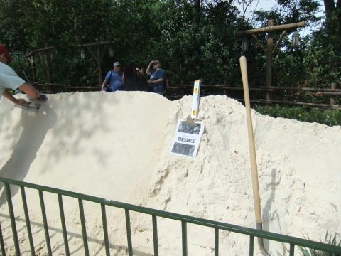 Sand waiting to be sculpted on the opening day...
