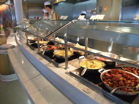 Just a small part iof the breakfast buffet at Cabanas