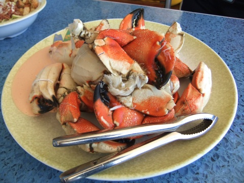 Big 'ol pile of crab claws