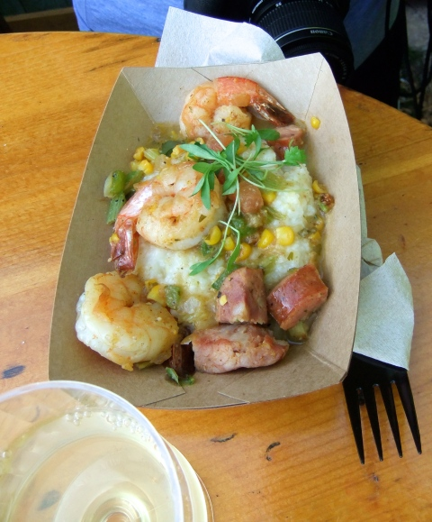Shrimp and Grits from Florida Fresh booth
