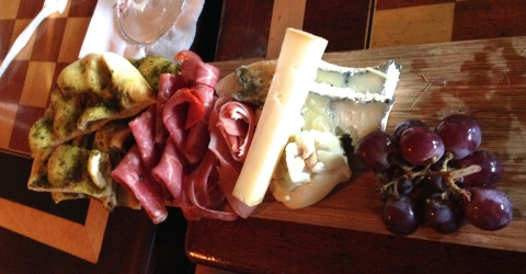 Artisan Cheese and Cured Meats Platter with Herb Flatbread