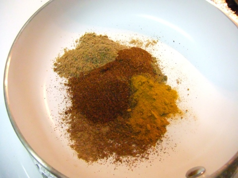 Toastin' the spices...