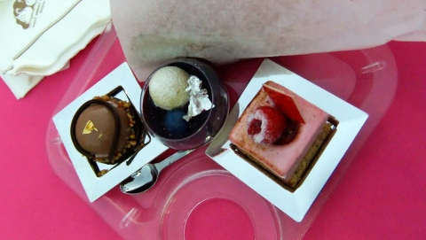 a trio of desserts from Chef Branlard