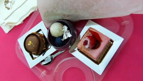 a trio of desserts from Chef Branlard